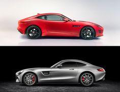 Jaguar F-Type V8R VS Mercedes AMG GTS - le match