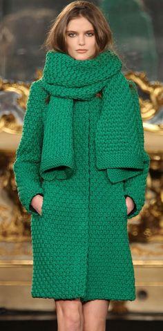 Hand Knit women's coat and scarfaran women's by BANDofTAILORS