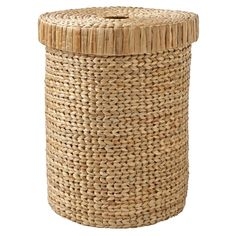 Shop Natural Wonderful Wicker Laundry Hamper.  If we had to come up with one word to describe this large wicker hamper, it would have to be wonderful.  That's because it's made by hand from water hyacinth, making each one truly unique.