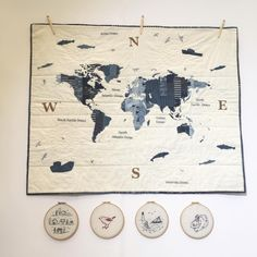 These have been popular ! My 'Newton' world map appliqué pattern and my 4 little embroideries. Textile Design, Quilt Patterns, My Design, Vintage World Maps, Applique, Quilting, Popular, Stitch, Embroidery