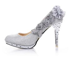 15cm High Heel Sandals Steady Star Fan Stage Shoes Hollowed-out Cinderella Princess Dance Shoes
