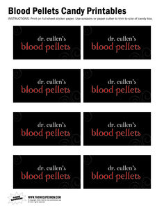 Blood Pellets Printable | Paging Supermom
