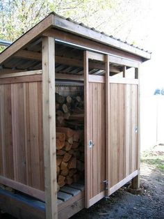 Shed Plans - Smart ways to store wood for the fireplace this winter! Modern Garage And Shed by Cedarcraft construction LLC - Now You Can Build ANY Shed In A Weekend Even If You've Zero Woodworking Experience! #modernyardfireplaces