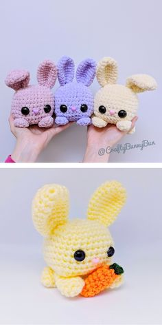 Of course sweet bunnies! That's why today we will show Tiny Amigurumi Easter Crochet Patterns, Crochet Bunny Pattern, Crochet Amigurumi Free Patterns, Crochet Dolls, Amigurumi Tutorial, Easy Knitting Patterns, Crochet Afghans, Crochet Blankets, Cool Patterns