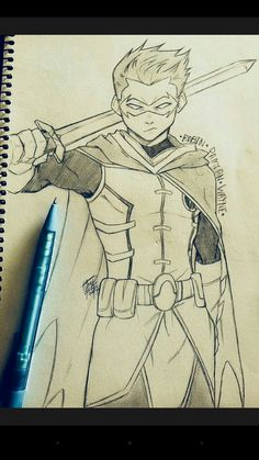 Fantastic Learn To Draw Comics Ideas Drawing Dc Comics First really detailed Robin I've done. Twas actually done proper, in my sketchbookDrawing Dc Comics First really detailed Robin I've done. Twas actually done proper, in my sketchbook Son Of Batman, Batman Robin, Batman Art, Robin Superhero, Robin Drawing, Batman Drawing, Superhero Sketches, Drawing Superheroes, Arte Dc Comics