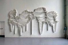 Toilet Paper Installation by Sakir-Gokcebag Canvas Paper, Diy Canvas, Toilet Paper Art, Paper Installation, Art Google, Home Art, Amazing Art, Sculptures, Art Pieces