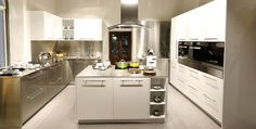 U Shaped Modular Kitchen designs provide an unique style, elegance, and versatility to the Kitchen. It has been manufactured with high quality stainless steel by Arttdinox.