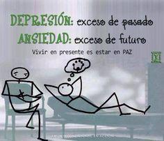 Depresión: exceso de pasado; Ansiedad: exceso de futuro