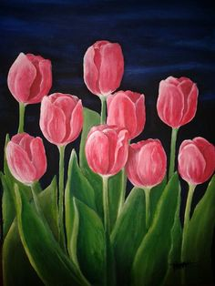 5c22d10f11f8 Rosy Pink Tulips Canvas Print   Canvas Art by Sharon Freeman ...