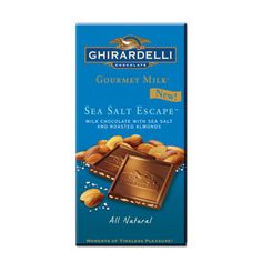 Ghiradelli Milk Chocolate and Sea Salt. OMG. - Let's be real, this is on my list ANY time of year.