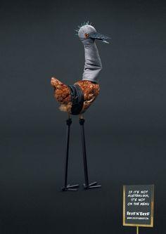 Animals in Print Ads | Reef n' Beef: Chicken by Saatchi & Saatchi