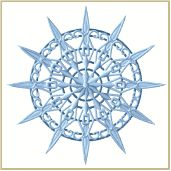 Snowflake freestanding lace machine embroidery design