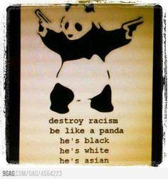 Destroy racism like a panda