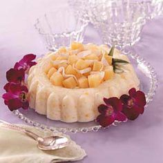 Piña Colada Molded. An original recipe, this molded gelatin gets a tropical twist from coconut, pineapple, and macadamia nuts. It's a wonderful anytime treat!