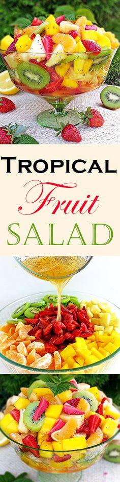 ... Tropical Fruit Salad on Pinterest | Tropical Fruits, Fruit salad and