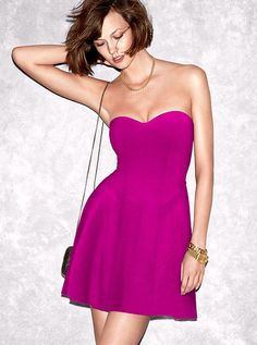 Strapless Ponte Push-Up Dress. I WANT THIS SO BAD....