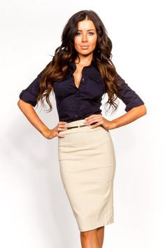 Working Girl Dressy Top - Navy