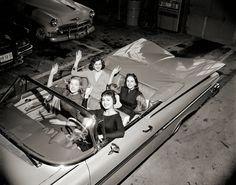Girls cruising, 1950s