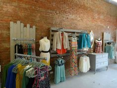 storefront ideas | Old piping for racks... love! | storefront ideas