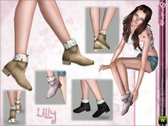 Simsimay's Lilly Booties