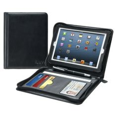 b5340261cedd iLuv CEO Folio Multi-Purpose Portfolio Case for iPad Mini - Black  (ICA8J345BLK)