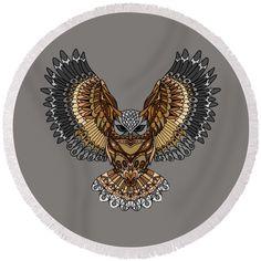 Summer Essentials, Beach Towel, Fine Art America, Owl, Plush, Seasons, Gifts, Presents, Owls