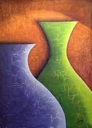 Bodegón Azul y Verde (Schilderij), cm door Juan Carlos Bonilla Técnica: Acrílico sobre yeso Canvas Painting Projects, Clay Art Projects, Diy Painting, Canvas Art, Canvas Ideas, Pinturas Color Pastel, Oil Pastel Paintings, Art Drawings For Kids, Pastel Drawing