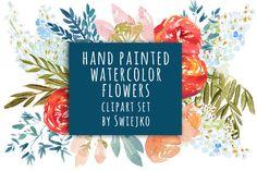 Watercolor Flowers, wedding clipart by swiejko on Creative Market