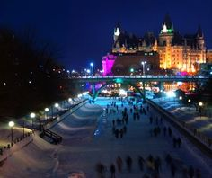 Skating on the Rideau Canal. Skaters on the Rideau Canal, a UNESCO heritage site , Visit Canada, O Canada, Canada Travel, Ottawa Winterlude, The Places Youll Go, Places To See, Ottawa Tourism, Ottawa Canada, Beauty