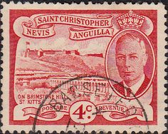 1952 St Christopher Nevis Anguilla King George VI SG 97 Fine Used SG 97 Scott 110 Other Old Postage Stamps Here