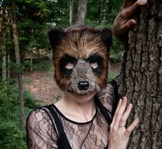 Pretty sure I'm going to get this. Woodland Brown Bear Mask Grizzly Bear Mask by FemaleArtCollective, $52.00