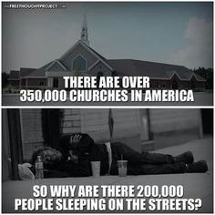 Homeless People, Churches, Religion,