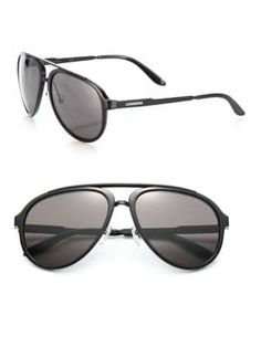 Carrera Aviator Sunglasses In Black Carrera Sunglasses, Black Aviator Sunglasses, Aviation, Sporty, Mens Fashion, Style, Moda Masculina, Swag, Man Fashion