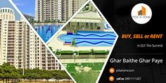 The summit is a great complex overlooking DLF Golf Course see more details on pickahome.com #Thesummit