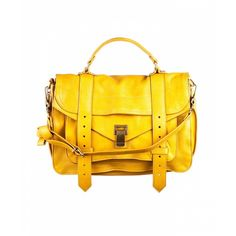 Proenza Schouler Ps1 Medium Leather ($1,695) ❤ liked on Polyvore featuring bags, handbags, shoulder bags, purses, bolsas, accessories, mustard, mustard yellow purse, leather shoulder bag and yellow purse