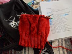 Learn-to-knit resources.  I definitely need some more practice, despite teaching myself the basics nearly 10 years ago.