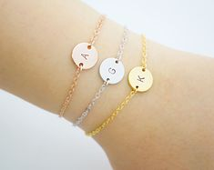 Personalized Bracelet, Monogram Bracelet, Initial Bracelet, Friendship Bracelet, Bridesmaid Gifts, Christmas gift for her, monogram jewelry