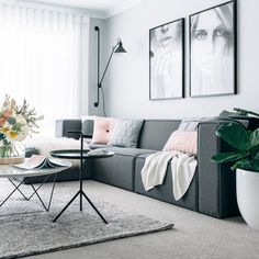 Button Cushion - Blush | Immy + Indi | Our Australian exclusive range of cushions from Danish brand ByTHER's sitting pretty in the home of Tarina Lyell