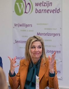 Queen Maxima visits Buddy project Barneveld