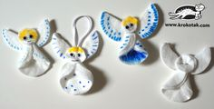 winter decorations from eye make-up remover pads angel ornament