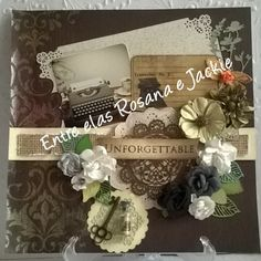 Scrapbook, página BoBunny, facas de corte Sizzix e Prima Marketing, flores Toke e crie e Prima marketing, furador Martha Stewart.