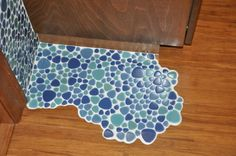Kreative Ideen Boden im Bad blau interior