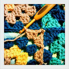 How to join granny squares as you go - tutorial