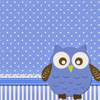 Blue Owl Free Printable Invitations.