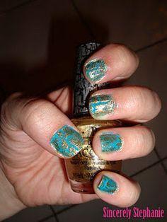 gold shatter  sincerelystephaniee.blogspot.com