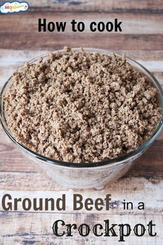 how to cook ground beef in a crockpot