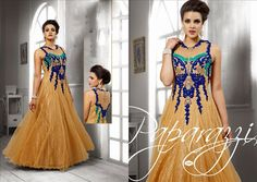 Buy stylish designer anarkali salwar suit online from Designer Evening Gowns, Designer Gowns, Indowestern Gowns, Net Gowns, Western Wear For Women, Evening Party Gowns, Designer Anarkali, Gowns Of Elegance, Party Wear Dresses