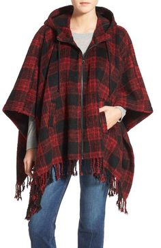 Steve Madden Hooded Poncho Cardigan available at #Nordstrom