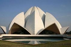 World Architecture Community News - Lotus Temple: A Symbol Of Excellence In Modern Indian Architecture Modern Architecture Design, Indian Architecture, Modern House Design, Temple Architecture, Architecture Images, Amazing Architecture, Hindus, Nova Deli, Principals Of Design
