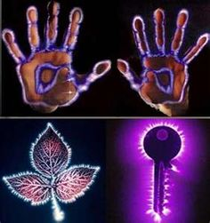 kirlian photography so amazing...                                                                                                                                                                                 More